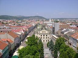Košice Hlavná från Sankt Elisabeths katedral.