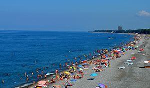 Kobuleti - Image: Kobuleti Beach