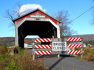Kochendefer Covered Bridge - Western end of the bridge