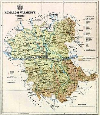 Othmar Schimkowitz - Image: Komárom county map