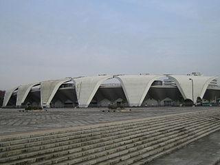Komazawa Olympic Park Stadium building in Setagaya-ku, Tokyo, Japan