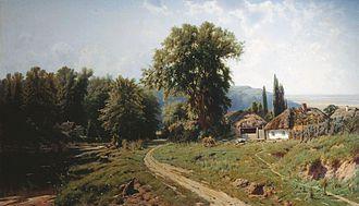 Khutor - Konstantin Kryzhitsky. A Khutir in Little Russia, 1884