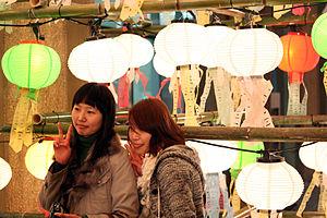 韓國元宵節掛的燈籠