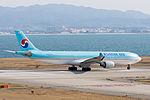 Korean Air ,KE3722 ,Airbus A330-322 ,HL7525 ,Departed to Seoul ,Kansai Airport (16187920684).jpg