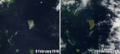 Koro Island, Fiji, before and after Cyclone Winston 2016.png