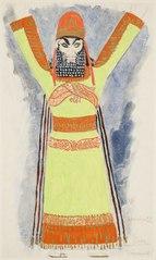 Kostymskiss av Isaac Grünewald - Simson och Delila