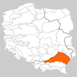Sandomierz Basin - Image: Kotlina Sandomierska
