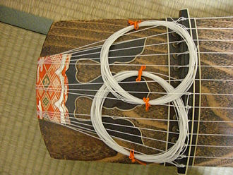 Koto (instrument) - Detail of koto