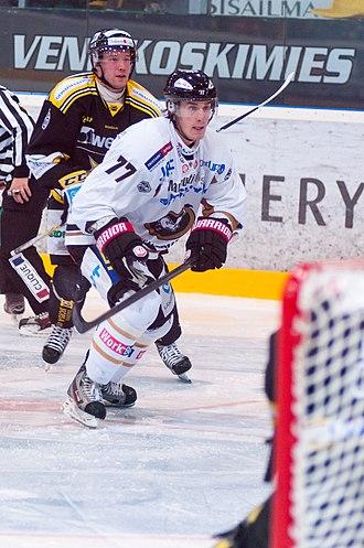 Kyle Turris - Turris with Kärpät during 2012–13 SM-liiga season.