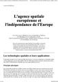 L'agence spatiale européenne et l'indépendance de l'Europe-fr.pdf