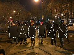 LAQUAN McDonald Chicago memorial from protestors.jpg