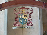 LA Cathedral cathedra coat of arms