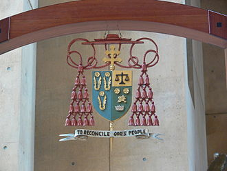 Roger Mahony - Coat of arms of Roger Mahony, on the cathedra in the Cathedral of Our Lady of the Angels, Los Angeles