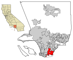 Location within Quận Los Angeles in the state of California