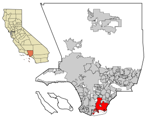 LA County Incorporated Areas Long Beach highlighted.svg