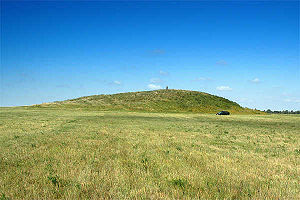 Archaeological site -  An archaeological site with human presence dating from 4th century BC, Fillipovka, South Urals, Russia. This site has been interpreted as a Sarmatian Kurgan.