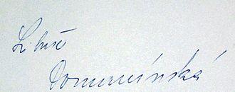 Libuše Domanínská - Signature of Libuše Domanínská (1983)