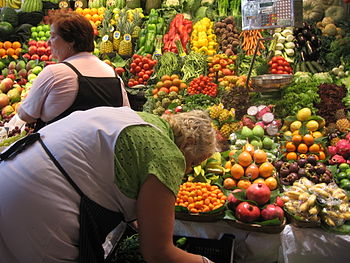 Mercat de la Boqueria, fruits & vegetables