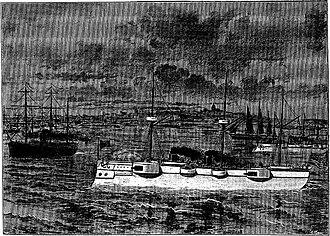 Rio de Janeiro Affair - Cruiser ''Detroit'' in the Guanabara Bay, during the Brazilian Naval Revolt (L'Univers illustré, Levy (Paris), nº 2.029, 10 February 1894).