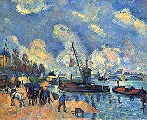 La Seine au quai d'Austerlitz, d'après Guillaumin (The Seine at Bercy)