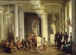 Karl Girardet - The Reception of George Catlin's Indian Museum, one of Girardet's works as court painter.