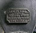Label on the bellows, the Nail Forge, Hoylandswaine - geograph.org.uk - 1501486.jpg