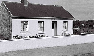 Irish Land Acts - Original 1906 Labourers' Act cottage, as seen in 1977