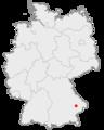 Lage der Stadt Plattling in Deutschland.png