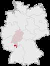 Lage des Landkreises Kreis Bergstraße in Deutschland.png