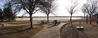 Lake Hiawatha - Lake Hiawatha from the playground on its eastern shore.
