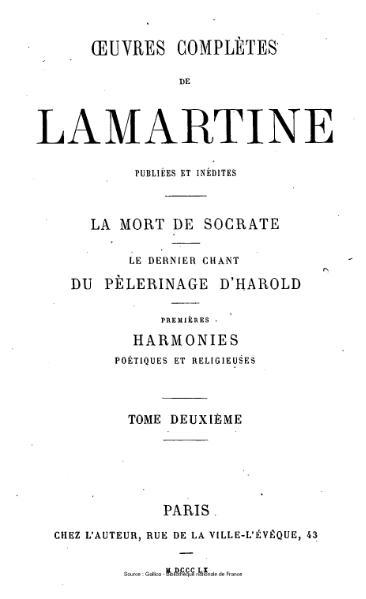 File:Lamartine - Œuvres complètes de Lamartine, tome 2.djvu
