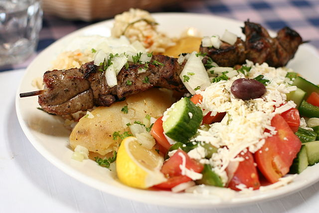 Lamb Souvlaki By Geoff Peters from Vancouver, BC, Canada (lamb souvlaki) [CC-BY-2.0 (https://creativecommons.org/licenses/by/2.0)], via Wikimedia Commons