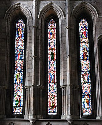 Lancet window - Lancet windows at Hexham Abbey, UK