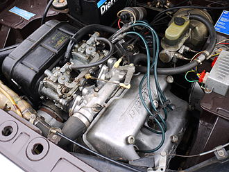 Lancia Fulvia - The V4 engine of a 1972 Fulvia Berlina