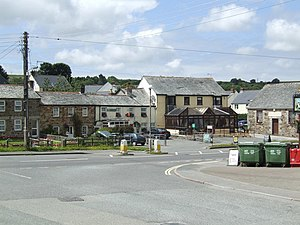 Lanivet - Image: Lanivet Village Cornwall Uk
