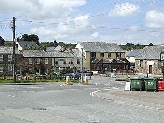 Lanivet Human settlement in England