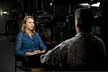"Lara Logan with CBS's ""60 Minutes"", sits with U.S. Army Sgt. 1st Class Chris Corbin, assigned to the 7th Special Forces Group (Airborne), before conducting an interview at Eglin Base Air Force Base, Fla., March 130318-A-YI554-748.jpg"