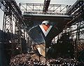 Launch of USS Bon Homme Richard (CV-31) at New York Navy Yard.jpg