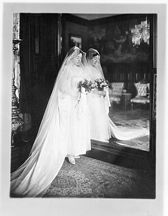 A. & L. Tirocchi Gowns - Laura Tirocchi at the time of her marriage to Dr. Louis J. Cella, 1915.