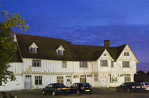 Lavenham - Image: Lavenham Guildhall night