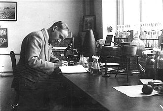 Lawrence Ogilvie - Ogilvie in his Bermuda Department of Agriculture laboratory in the mid-1920s
