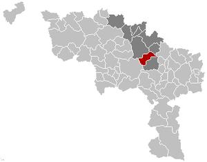 Le Rœulx - Image: Le Roeulx Hainaut Belgium Map