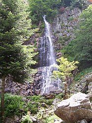 The Saut du Gier waterfall