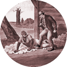 Simon Legree and Uncle Tom: A scene from Uncle Tom's Cabin, history's most famous abolitionist novel