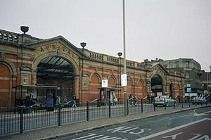 Leicester railway station - east of the City on the A6 London Road.