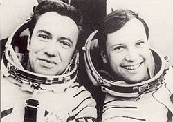 Leonid Popow und Dumitru Prunariu