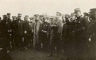 Auguste Hirschauer - With Mustafa Kemal Bey (Atatürk) during the Picardie army manoeuvres.