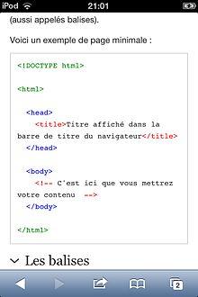 Le Langage Html Version Imprimable Wikilivres