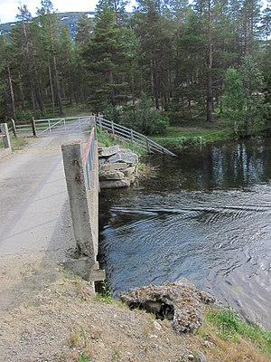 Lesjaskogsvatnet - Image: Lesjaskogsvatnet Bryggeosen