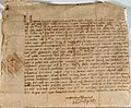 Letter from King Henry VIII to Grand Master l'Isle Adam, 1530.jpg